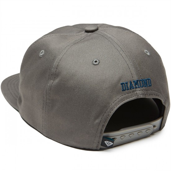 Diamond Supply Co. OG Script Snapback Hat - Grey