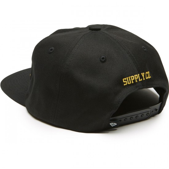 Diamond Supply Co. Og Script Unconstructed Snapback Hat - Black