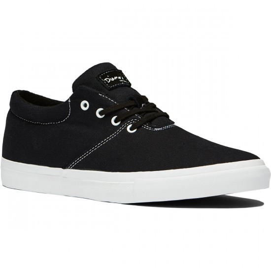 Diamond Supply Co. Torey Shoes - Black/Canvas - 8.0