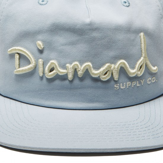 Diamond Supply Co. Og Script Deconstructed Snapback Hat - Blue
