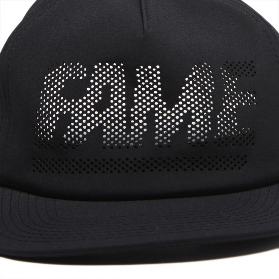 Hall Of Fame Fame Block Perf Snapback Hat - Black