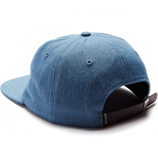 The Quiet Life Smoking Girl Polo Hat - Light Denim