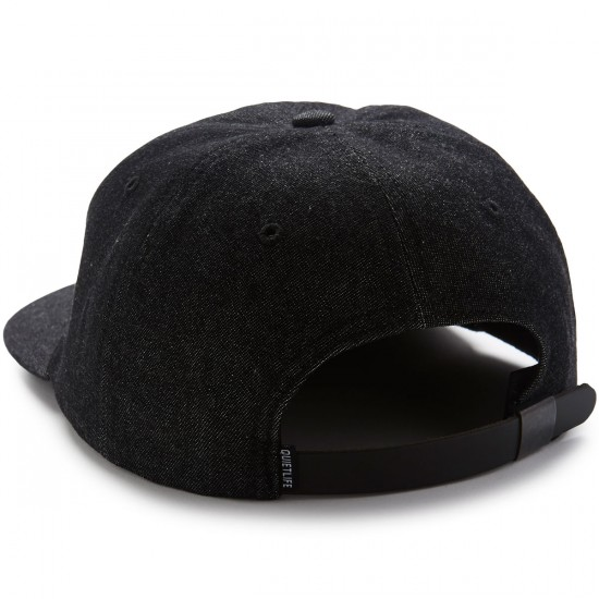 The Quiet Life World Globe Polo Hat - Black Denim
