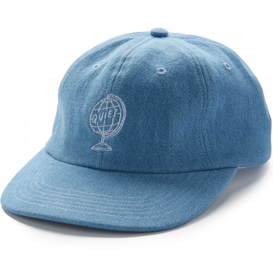 The Quiet Life World Globe Polo Hat - Light Denim