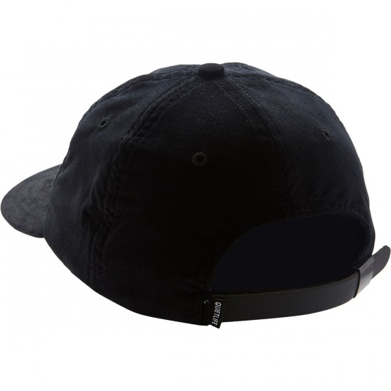 The Quiet Life Bolt Cord Polo Hat - Black