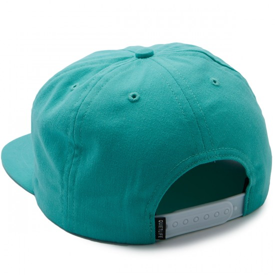 The Quiet Life Solar Relaxed Snapback Hat - Aqua