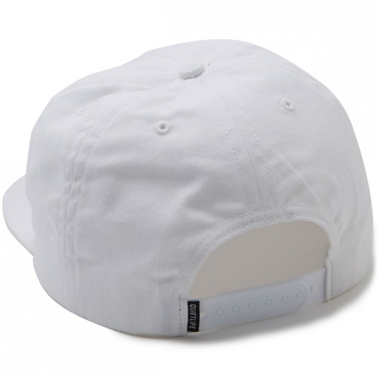 The Quiet Life Solar Relaxed Snapback Hat - White