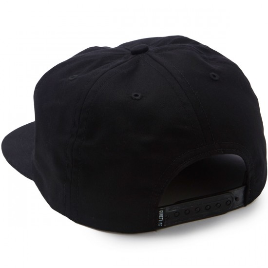 The Quiet Life Photocopy Relaxed Snapback Hat - Black