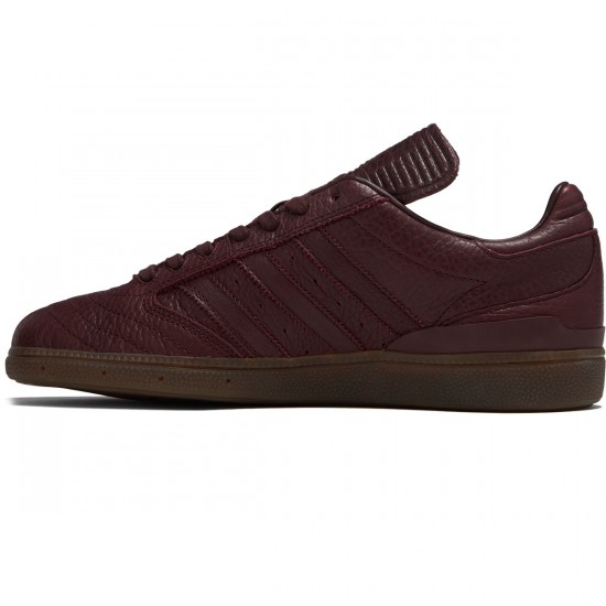 Adidas Busenitz Horween Leather LTD Shoes - Night Red/Gum - 8.0