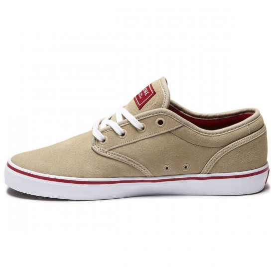 Globe Motley Shoes - Tan/Red - 8.0