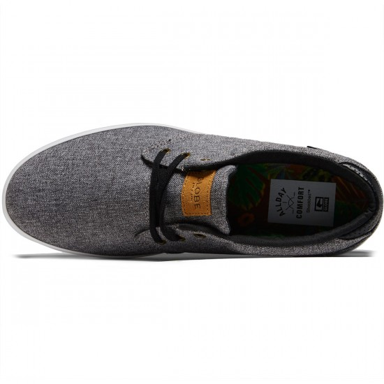 Globe Willow Shoes - Black Chambray/White - 8.0