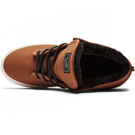 Globe Motley Mid Shoes - Toffee/Antique/Fur - 8.0