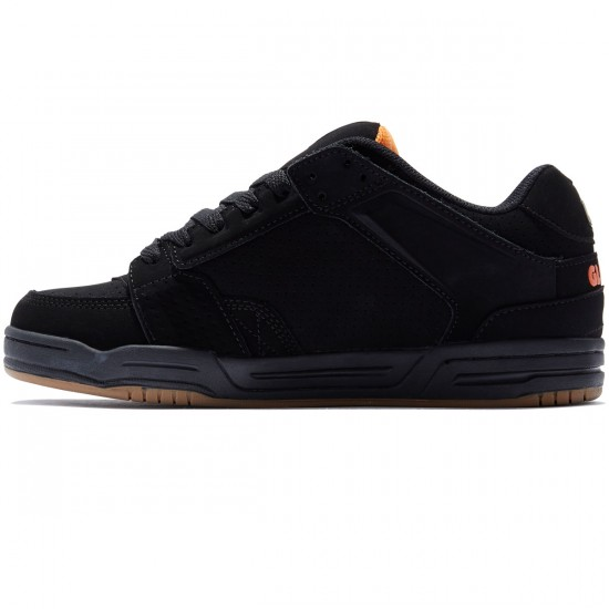 Globe Scribe Shoes - Black/Black/Orange - 8.0