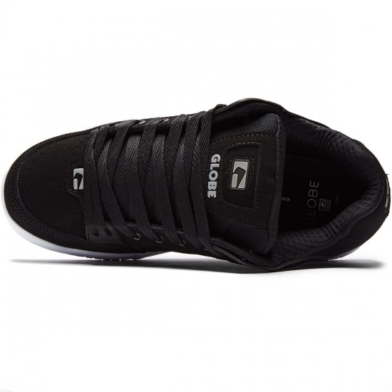 Globe Tilt Shoes - Black/Black/White - 8.0