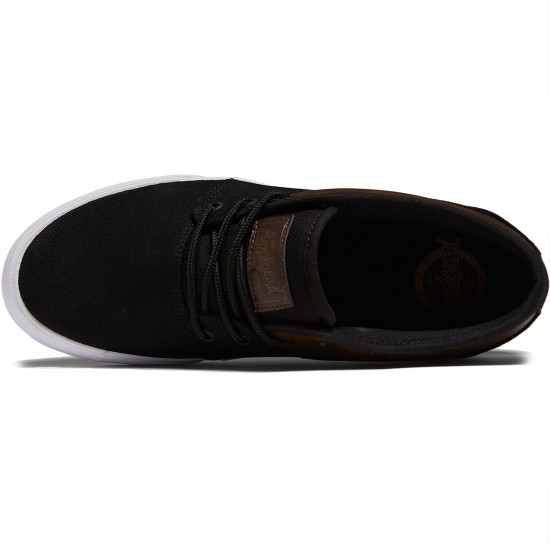 Globe Mahalo Shoes - Black Twill/Brown - 8.0