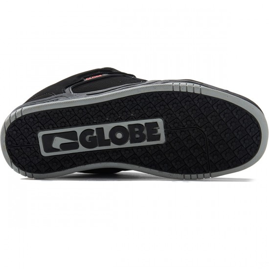 Globe Scribe Shoes - Black/Black/Red - 8.0
