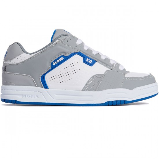 Globe Scribe Shoes - Grey/White/Blue - 8.0