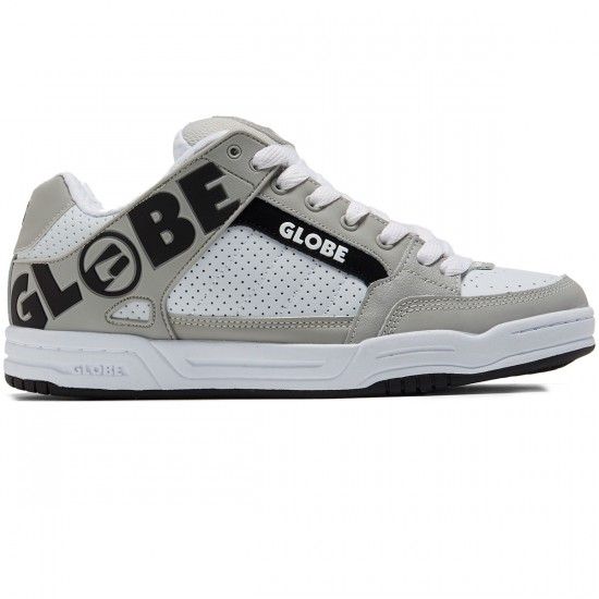 Globe Tilt Shoes - White/Grey/Black - 8.0