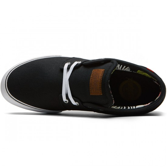 Globe Mahalo Shoes - Black/White/Floral - 8.5