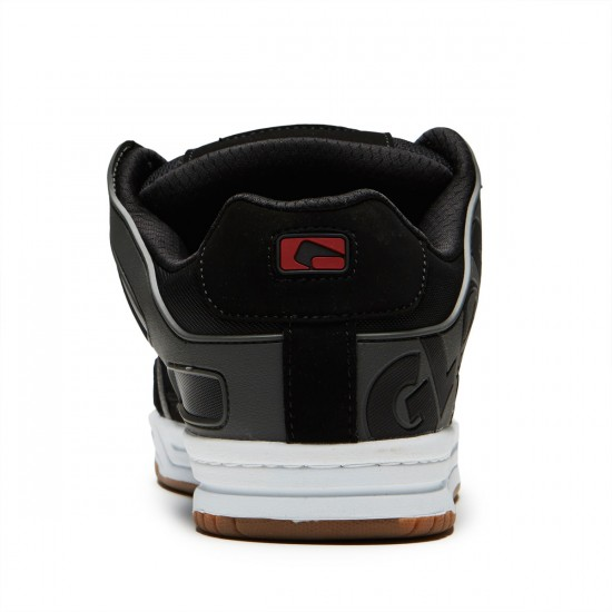 Globe Tilt Shoes - Black/Charcoal/Red - 8.0