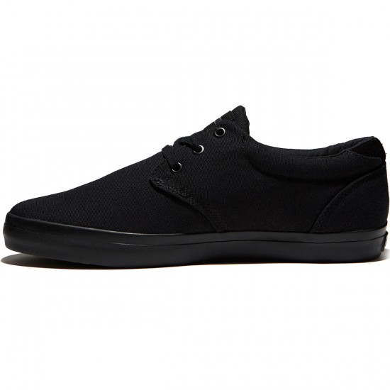 Globe Willow Shoes - Black/Black Canvas - 8.5