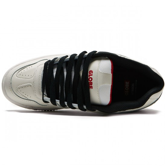 Globe Fury Shoes - White/Black/Red - 8.5