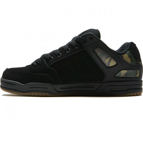 Globe Tilt Shoes - Black/Camo - 8.5