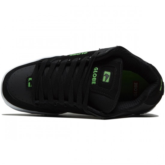 Globe Tilt Shoes - Black/Phantom/Green - 8.0