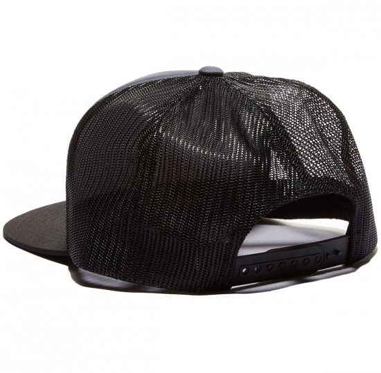 Santa Cruz Block Strip Trucker Hat - Carbon/Black