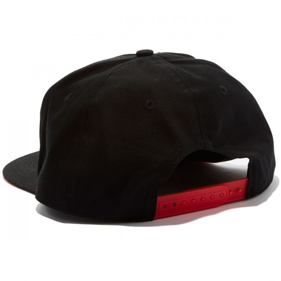 Independent Label Cross Adjustable Snapback Hat - Black