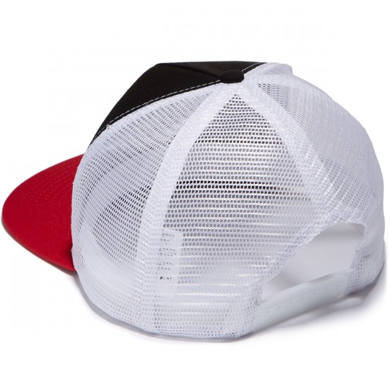 Independent Banner Repeat Trucker Hat - Black/Red