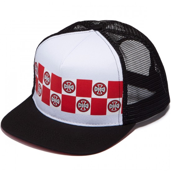 Independent Banner Repeat Trucker Hat - White/Black