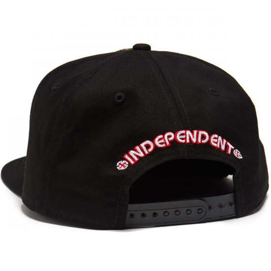 Independent Classic Label New Era Snapback Hat - Black Splatter