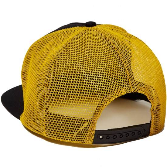 Santa Cruz Cali Dot Trucker Mesh Hat - Black/Gold