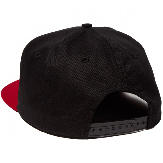 Independent Directional Cross Adjustable Snapback Hat - Black/Red