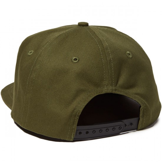 Independent Directional Cross Adjustable Snapback Hat - Olive