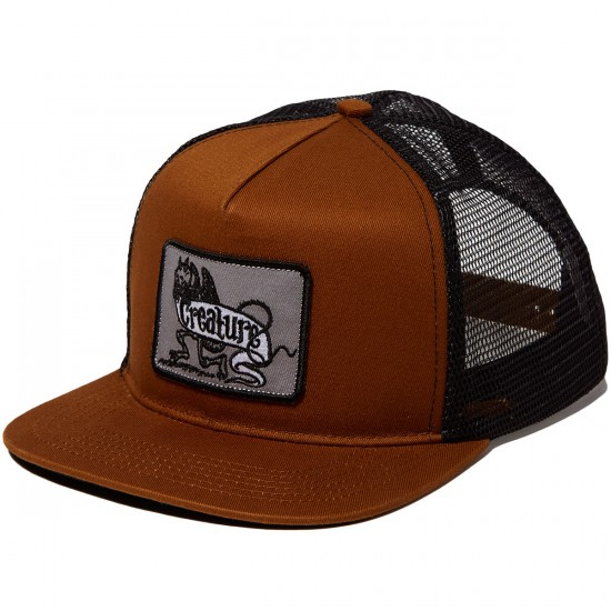 Creature IMP Trucker Mesh Hat - Brown/Black