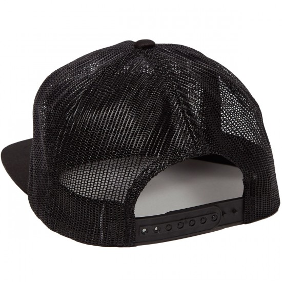 Creature Reverse Patch Flex Fit Trucker Mesh Hat - Black