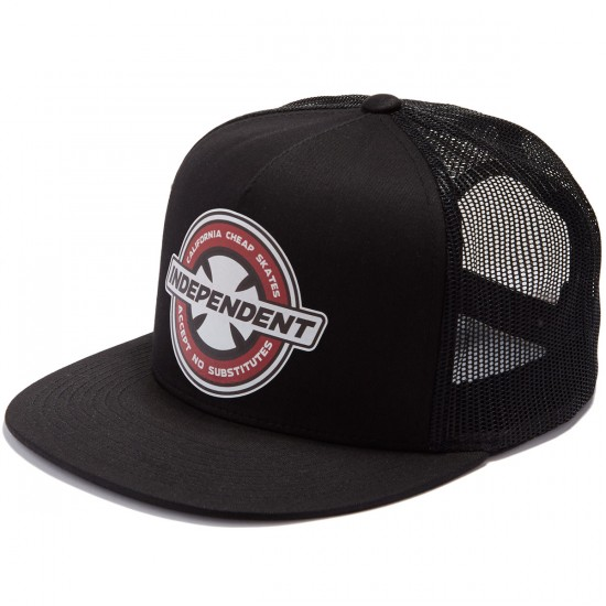 Independent X CCS Accept No Substitutes Trucker Hat - Black