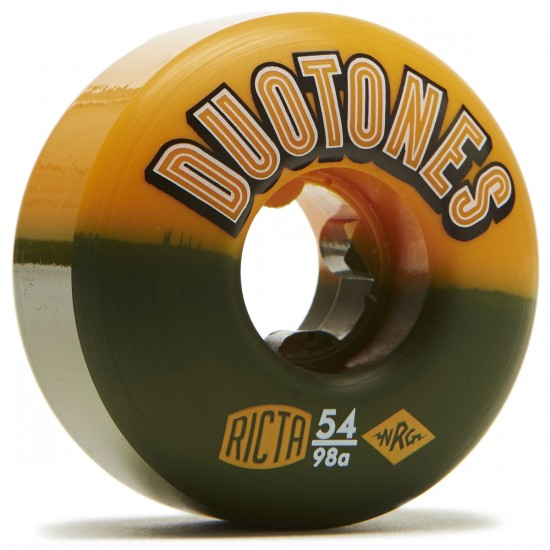 Ricta Duo Tones Orange Black 98a Skateboard Wheels - 54mm