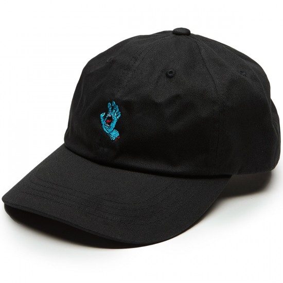 Santa Cruz Screaming Hand Baseball Hat - Black