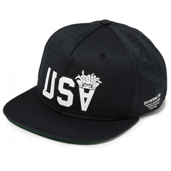 Crooks and Castles National Snapback Hat - Black