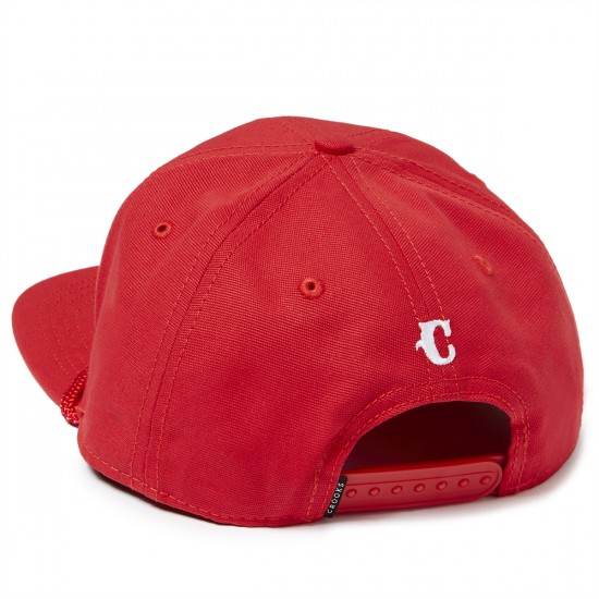 Crooks and Castles Team Crooks Snapback Hat - True Red