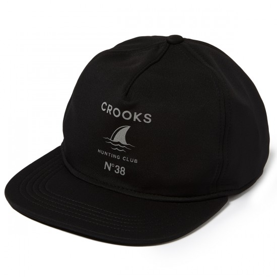 Crooks and Castles Hunting Club Snapback Hat - Black