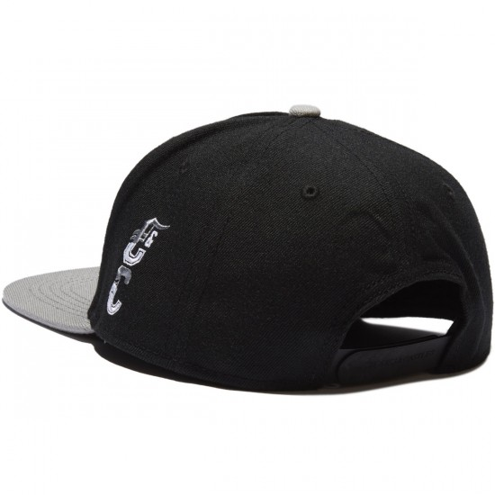 Crooks and Castles Syndicate C Snapback Hat - Black/Cement