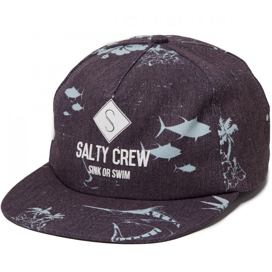 Salty Crew Chart Hat - Black