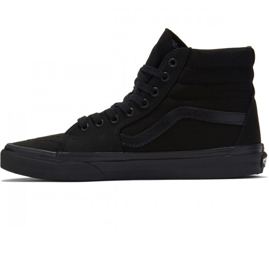 Vans Sk8-Hi Shoes - Black/Black/Black - 8.0