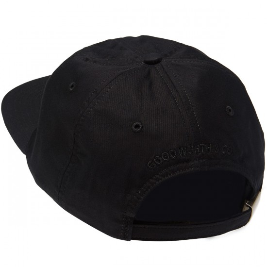Good Worth Lit Strapback Hat - Black