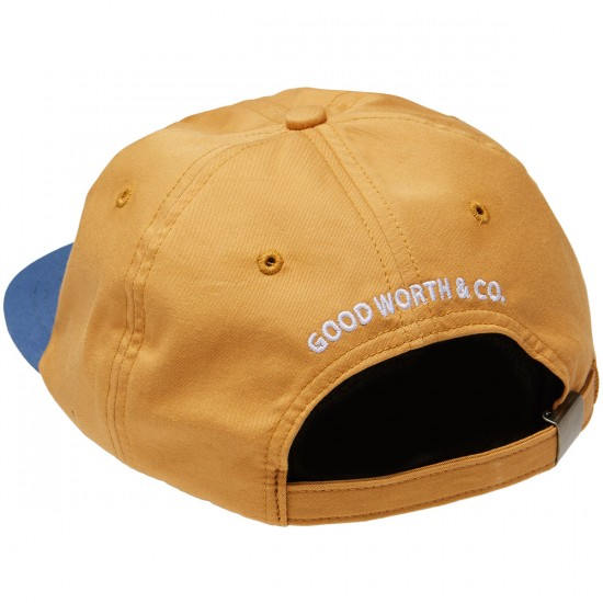 Good Worth Lit Strapback Hat - Squash/Slate Blue