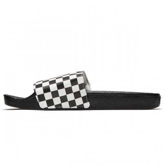 Vans Slide-On Shoes - White Checkerboard - 10.0